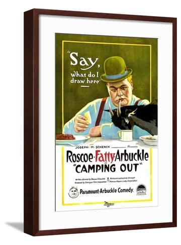 Camping Out, Roscoe 'Fatty' Arbuckle, 1919--Framed Art Print