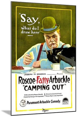 Camping Out, Roscoe 'Fatty' Arbuckle, 1919--Mounted Art Print