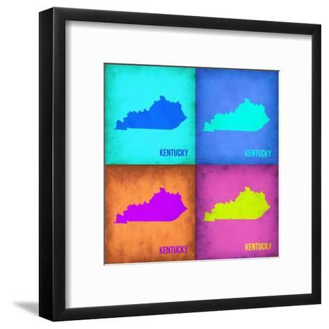 Kentucky Pop Art Map 1-NaxArt-Framed Art Print