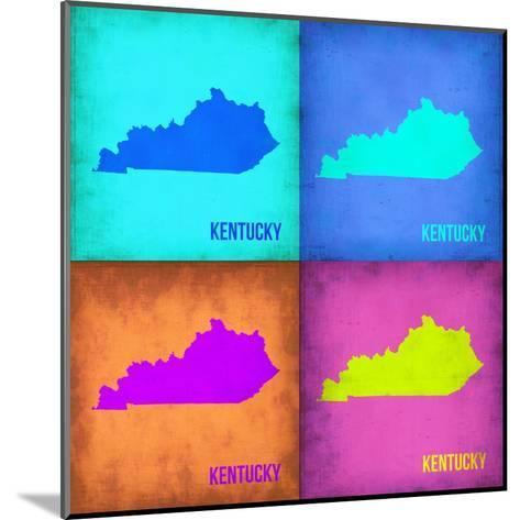 Kentucky Pop Art Map 1-NaxArt-Mounted Art Print