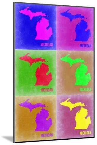 Michigan Pop Art Map 2-NaxArt-Mounted Photo