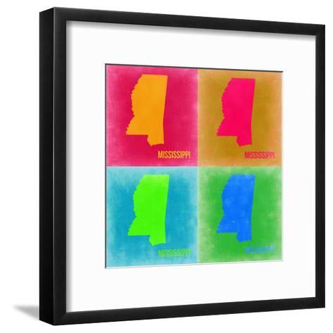 Mississippi Pop Art Map 2-NaxArt-Framed Art Print
