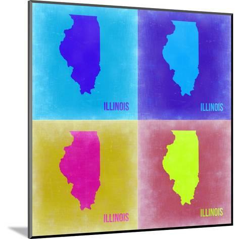 Illinois Pop Art Map 2-NaxArt-Mounted Art Print