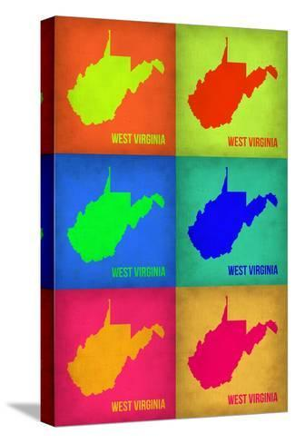 West Virginia Pop Art Map 1-NaxArt-Stretched Canvas Print