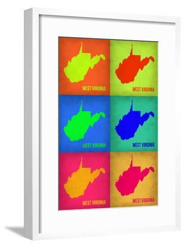 West Virginia Pop Art Map 1-NaxArt-Framed Art Print
