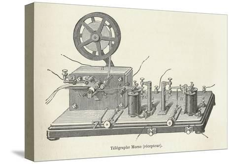 Morse's Telegraph Receiver-Science, Industry and Business Library-Stretched Canvas Print