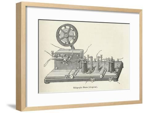 Morse's Telegraph Receiver-Science, Industry and Business Library-Framed Art Print