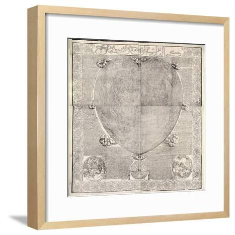 Haci Ahmed's World Map, 1560-Library of Congress-Framed Art Print