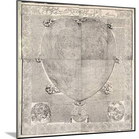 Haci Ahmed's World Map, 1560-Library of Congress-Mounted Giclee Print