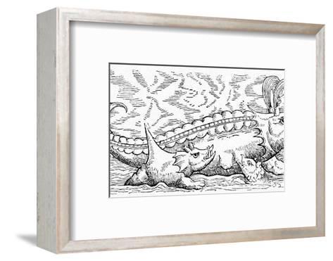 16th Century German Woodcut Print-CCI Archives-Framed Art Print