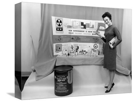 Fallout Shelter Supplies, USA, Cold War-us National Archives-Stretched Canvas Print