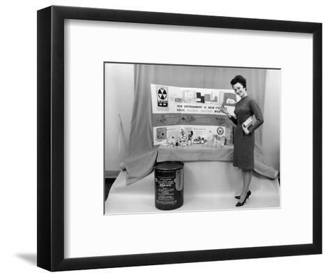 Fallout Shelter Supplies, USA, Cold War-us National Archives-Framed Art Print
