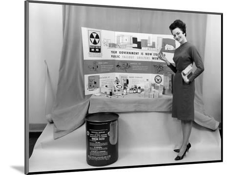 Fallout Shelter Supplies, USA, Cold War-us National Archives-Mounted Giclee Print