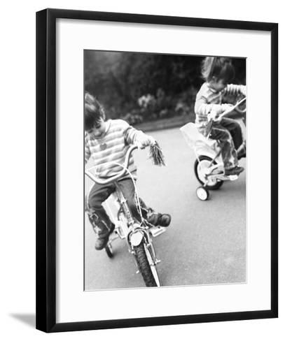 Identical Twin Girls-Ian Boddy-Framed Art Print