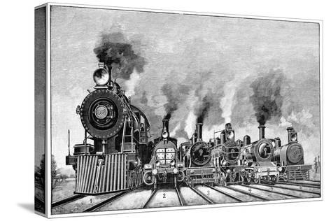 Steam Locomotives, Early 20th Century-Science Photo Library-Stretched Canvas Print