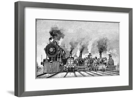 Steam Locomotives, Early 20th Century-Science Photo Library-Framed Art Print