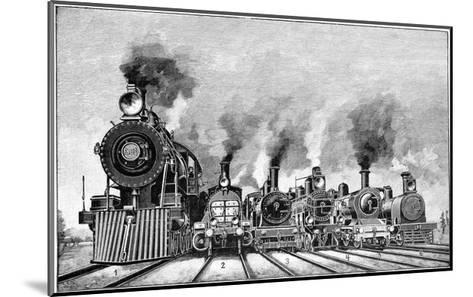 Steam Locomotives, Early 20th Century-Science Photo Library-Mounted Giclee Print