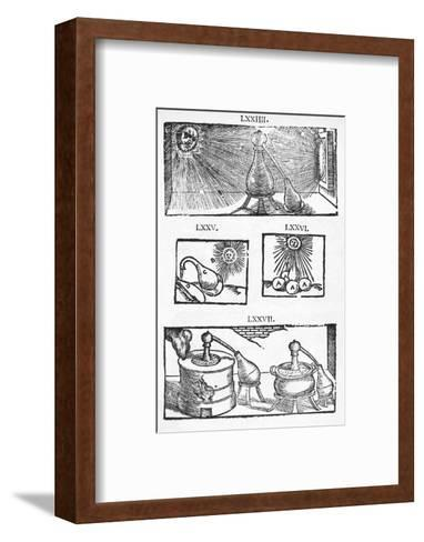 Historical Illustration of Distillation-Middle Temple Library-Framed Art Print