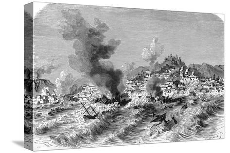 Lisbon Earthquake, 19th Century Artwork-Science Photo Library-Stretched Canvas Print