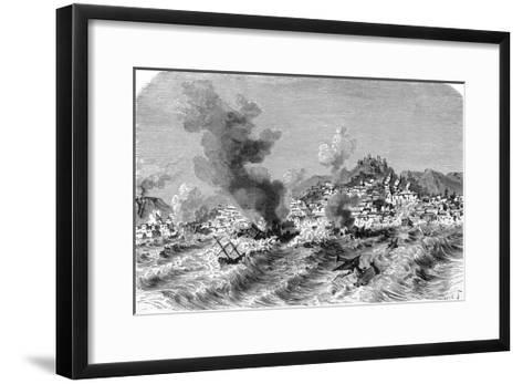 Lisbon Earthquake, 19th Century Artwork-Science Photo Library-Framed Art Print