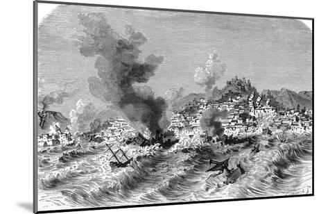 Lisbon Earthquake, 19th Century Artwork-Science Photo Library-Mounted Giclee Print