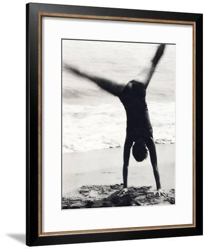 Woman Playing-Cristina-Framed Art Print