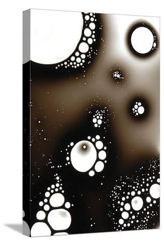 Gas Bubbles In Oil-Crown-Stretched Canvas Print