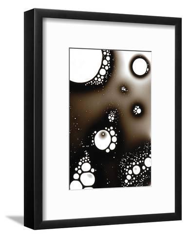 Gas Bubbles In Oil-Crown-Framed Art Print