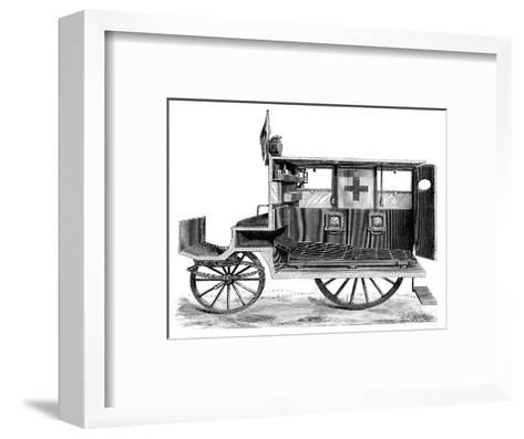 City Ambulance, 19th Century-Science Photo Library-Framed Art Print