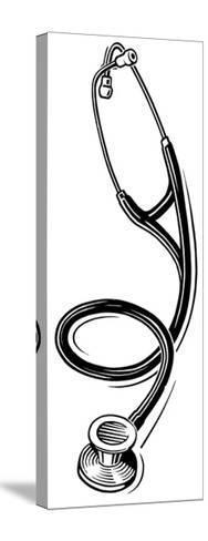 Stethoscope, Lino Print-Gary Gastrolab-Stretched Canvas Print
