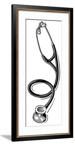 Stethoscope, Lino Print-Gary Gastrolab-Framed Art Print