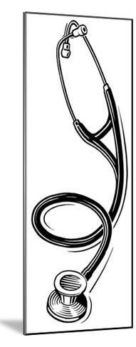 Stethoscope, Lino Print-Gary Gastrolab-Mounted Giclee Print