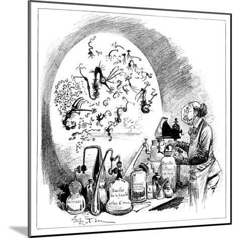 Microbiology Caricature, 19th Century-Science Photo Library-Mounted Giclee Print