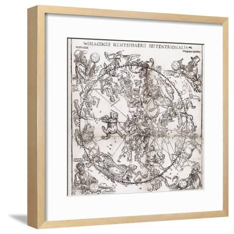 Northern Hemisphere Star Chart, 1537-Middle Temple Library-Framed Art Print