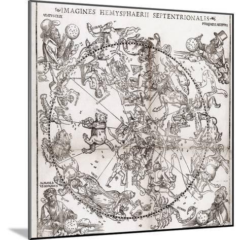 Northern Hemisphere Star Chart, 1537-Middle Temple Library-Mounted Giclee Print
