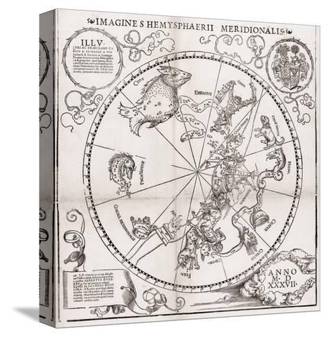 Southern Hemisphere Star Chart, 1537-Middle Temple Library-Stretched Canvas Print