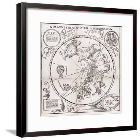 Southern Hemisphere Star Chart, 1537-Middle Temple Library-Framed Art Print