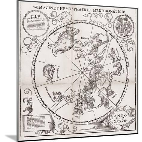 Southern Hemisphere Star Chart, 1537-Middle Temple Library-Mounted Giclee Print