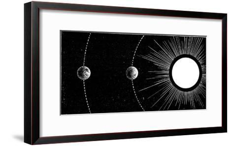 Earth-Venus Conjunction, 19th Century-Science Photo Library-Framed Art Print