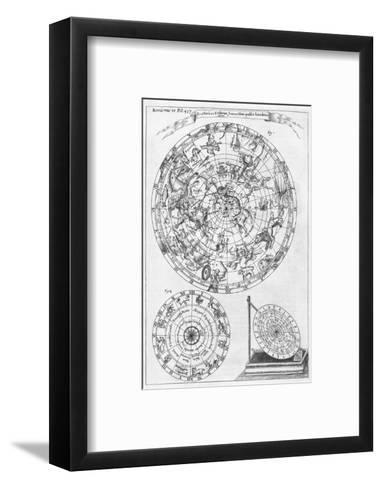 Sciathericon for Determining Time-Middle Temple Library-Framed Art Print