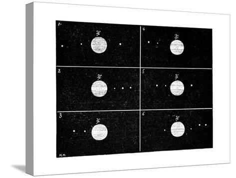 Galileo's Jovian Moon Observations, 1610-Science Photo Library-Stretched Canvas Print