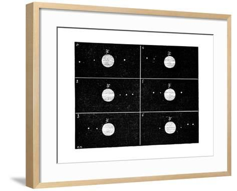 Galileo's Jovian Moon Observations, 1610-Science Photo Library-Framed Art Print