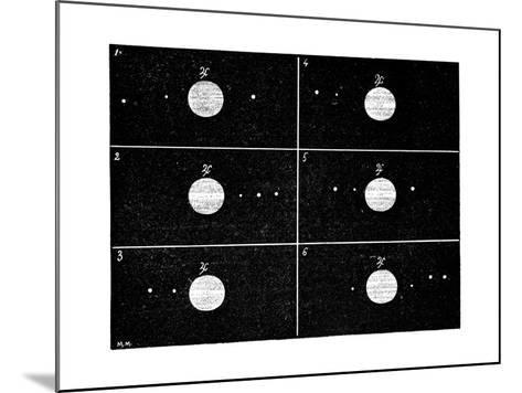 Galileo's Jovian Moon Observations, 1610-Science Photo Library-Mounted Giclee Print