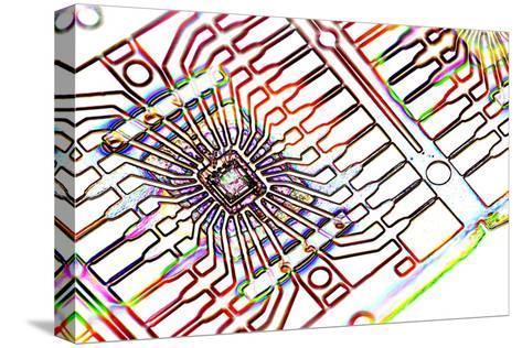 Microprocessor Chip, Artwork-PASIEKA-Stretched Canvas Print