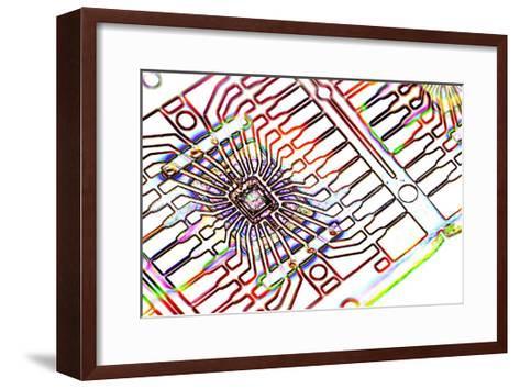Microprocessor Chip, Artwork-PASIEKA-Framed Art Print