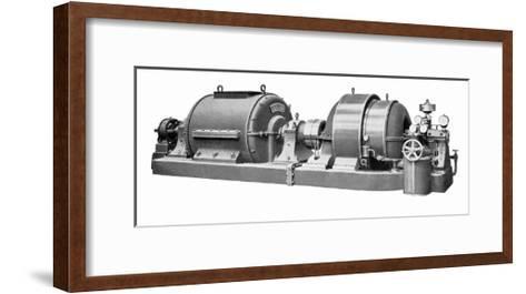 Rateau Steam Turbine And Generator-Mark Sykes-Framed Art Print