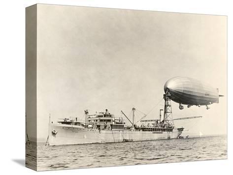 USS Shenandoah Airship And Tender-Miriam and Ira Wallach-Stretched Canvas Print