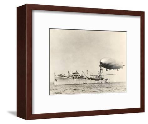 USS Shenandoah Airship And Tender-Miriam and Ira Wallach-Framed Art Print