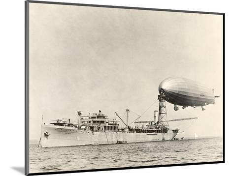 USS Shenandoah Airship And Tender-Miriam and Ira Wallach-Mounted Giclee Print