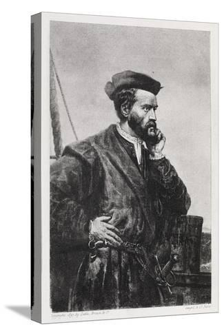 Jacques Cartier, French Explorer-Middle Temple Library-Stretched Canvas Print